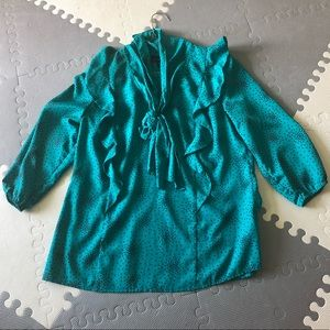 Attention Blouse Career Ruffle Work Silk Type
